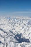 Vista aerea delle alpi Fotografia Stock Libera da Diritti