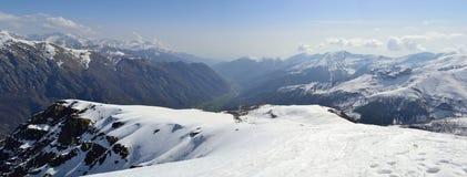 Vista aerea delle alpi Fotografia Stock