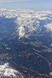 Vista aerea delle alpi Immagine Stock Libera da Diritti