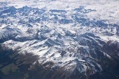 Vista aerea delle alpi Fotografie Stock Libere da Diritti
