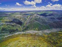 Vista aerea delle alpi australiane in Victoria, Australia Immagine Stock