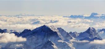 Vista aerea delle alpi dall'aeroplano Immagine Stock Libera da Diritti