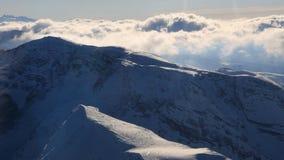 Vista aerea delle alpi dall'aeroplano Immagini Stock Libere da Diritti