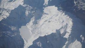 Vista aerea delle alpi in Europa durante la stagione invernale con neve fresca Fotografia Stock Libera da Diritti