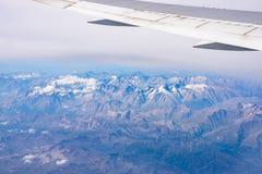 Vista aerea delle alpi, parco nazionale di Ecrins, Francia Fotografia Stock Libera da Diritti