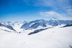Vista aerea delle alpi svizzere Fotografia Stock Libera da Diritti