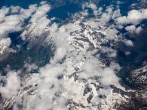 Vista aerea delle alpi svizzere Fotografie Stock