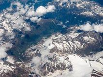 Vista aerea delle alpi svizzere Immagine Stock Libera da Diritti