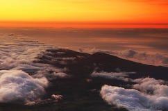 Vista aerea delle alpi svizzere dall'aereo Fotografie Stock