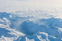 Vista aerea delle alpi svizzere Volando sopra le alpi vista mazing sopra Fotografia Stock Libera da Diritti