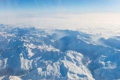 Vista aerea delle alpi svizzere Volando sopra le alpi vista mazing sopra Immagine Stock