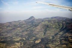 Vista aerea delle aziende agricole e delle montagne in Etiopia Immagine Stock Libera da Diritti