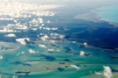Vista aerea delle Bahamas Immagine Stock Libera da Diritti