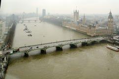Vista aerea delle Camere del Parlamento Immagini Stock Libere da Diritti