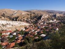 Vista aerea delle Camere di Beypazari Immagine Stock