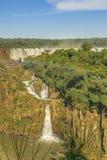 Vista aerea delle cascate di Iguazu Immagini Stock