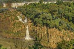 Vista aerea delle cascate di Iguazu Immagine Stock