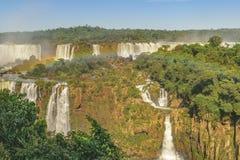 Vista aerea delle cascate di Iguazu Fotografia Stock