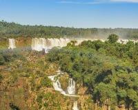Vista aerea delle cascate di Iguazu Immagini Stock Libere da Diritti