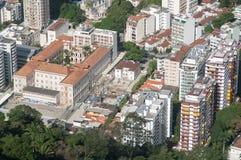 Vista aerea delle costruzioni in Rio de Janeiro Fotografie Stock