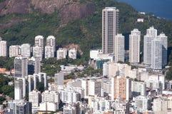 Vista aerea delle costruzioni in Rio de Janeiro Immagine Stock