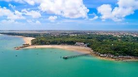 Vista aerea delle Dame del DES del flocculo della La, isola di Noirmoutier Fotografia Stock Libera da Diritti