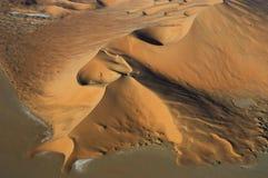 Vista aerea delle dune di sabbia allo sfregamento Al Khali Fotografia Stock