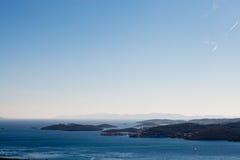 Vista aerea delle isole dalmate immagine stock libera da diritti