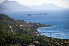 Vista aerea delle isole dalmate immagini stock