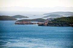 Vista aerea delle isole dalmate fotografie stock