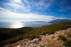 Vista aerea delle isole dalmate fotografia stock