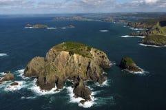 Vista aerea delle isole di Cavalli Immagini Stock
