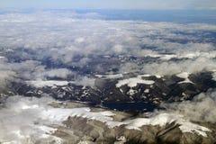 Vista aerea delle montagne Immagini Stock