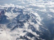 Vista aerea delle montagne delle alpi Immagini Stock Libere da Diritti