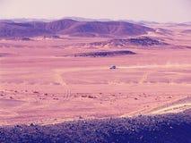 Vista aerea delle montagne del deserto di Sachara fotografia stock