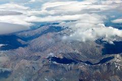Vista aerea delle montagne della Nuova Zelanda, isola del sud La foto è Tak Immagine Stock Libera da Diritti