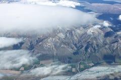 Vista aerea delle montagne della Nuova Zelanda, isola del sud La foto è Tak Immagini Stock