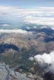 Vista aerea delle montagne della Nuova Zelanda, isola del sud La foto è Tak Immagini Stock Libere da Diritti