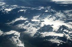 Vista aerea delle montagne delle alpi della neve. Europa. Immagine Stock Libera da Diritti