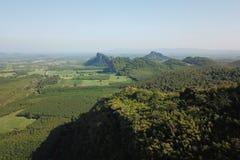 Vista aerea delle montagne e della foresta fotografia stock libera da diritti