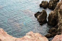 Vista aerea delle rocce fotografie stock libere da diritti