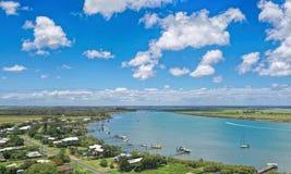 Vista aerea delle teste Bundbaberg Australia di Bernett immagini stock libere da diritti
