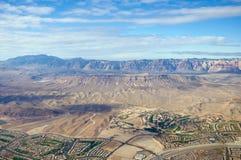 Vista aerea dello stabilimento americano Fotografia Stock Libera da Diritti