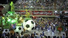 Vista aerea dello stadio di carnevale di Sambodromo Fotografie Stock Libere da Diritti