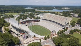 Vista aerea dello stadio di Frank Howard Field At Clemson Memorial Immagine Stock