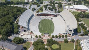 Vista aerea dello stadio di Frank Howard Field At Clemson Memorial Immagini Stock