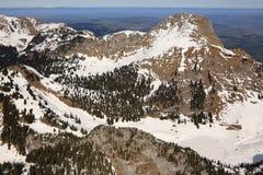 Vista aerea dello svizzero della Svizzera della montagna delle montagne delle alpi di Stockhorn Fotografia Stock Libera da Diritti