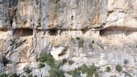 Vista aerea di Adamkayalar Roma Reliefs stock footage