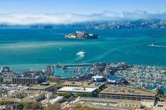 Vista aerea di Alcatraz fotografia stock libera da diritti
