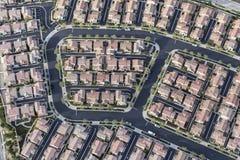 Vista aerea di alloggio moderno denso a Los Angeles Fotografie Stock Libere da Diritti